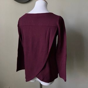 Loft Rich Plum Open Back Tee